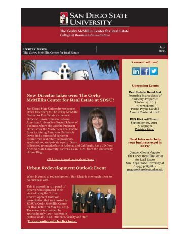 July 2013 Newsletter (pdf) - The College of Business Administration