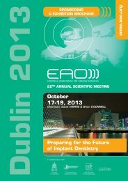 Sponsoring & Exhibition brochure - EAO