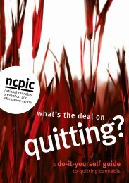 What's the deal on quitting? - National Cannabis Prevention and ...