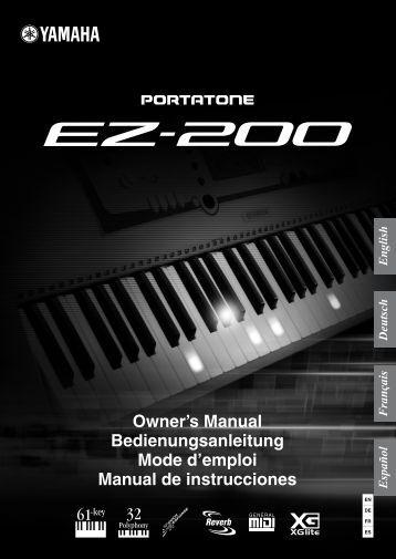 EZ-200 Owner's Manual - Just Music