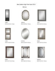 Best Sellers High Point April 2012 Mirrors