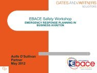Emergency Response Planning in Business Aviation, Aoife ... - eBace