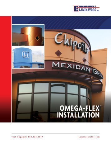 Omega-Flex Installation Manual - Laminators Inc.