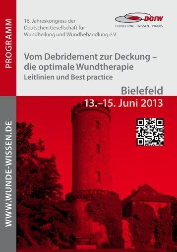 Bielefeld 13.–15. Juni 2013 - Wunde-Wissen.de