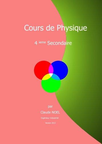 Cours de Physique - Enseignons.be