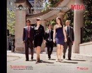 2012 MBA brochure