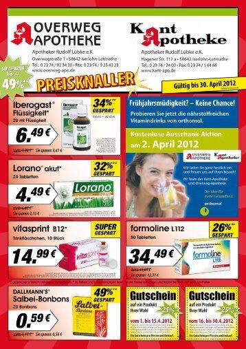 9,90 € Sie sparen - Kant-Apotheke