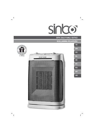 sfh 3363 fanlı ısıtıcı kullanma kılavuzu - Sinbo