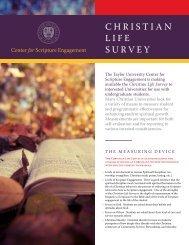 ChrISTIan LIFE SUrvEY - Westmont College