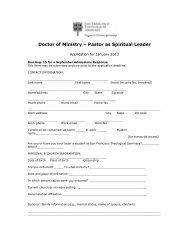 to download application form - San Francisco Theological Seminary