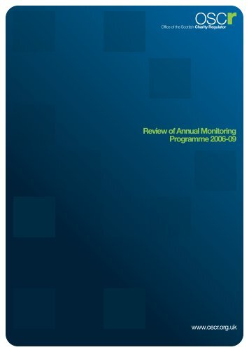 Review of Annual Monitoring Programme 2006 -2009 (.PDF, 312KB)