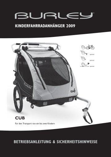CUB BetrieBsanleitung & sicherheitshinweise - Burley