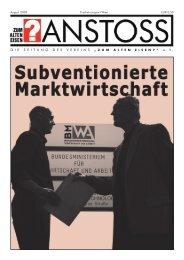 Ausgabe vom AUGUST 2008 - Zum alten Eisen