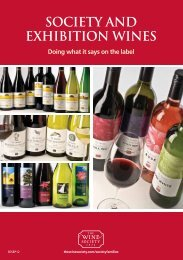 SOCIETY AND EXHIBITION WINES - The Wine Society