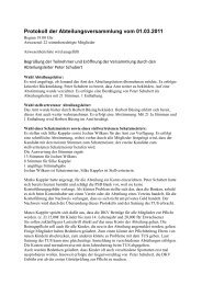 Protokoll der Abteilungsversammlung vom 01.03 ... - KarateDo Erkrath