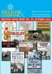 Publishing News ReceNtly PublIshed aNd FoRthcomINg… - Helion ...