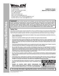 14279: Alpha SL Siren Amplifier - Whelen Engineering