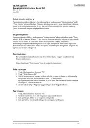 Quick guide Administrationssiderne