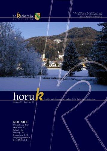 HORUK Ausgabe 14 - Gemeinde St. Katharein an der Laming