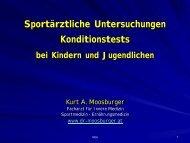 Sportärztliche Untersuchungen Konditionstests bei Kindern und ...