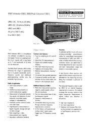 RMS Voltmeter URE2, RMS/PeakVoltmeter URE 3 - Helmut Singer ...