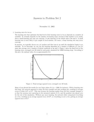 Solutions Problem Set 2