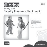 60010 & 60011 By-My-Side™ Safety Harness Backpack - BRICA Inc.