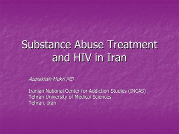 Substance Abuse Treatment and HIV in Iran - UCLA Integrated ...