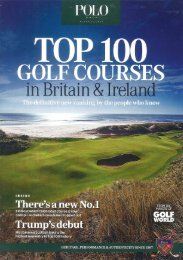 Golf World's Top 100 Golf Courses in Britain & Ireland