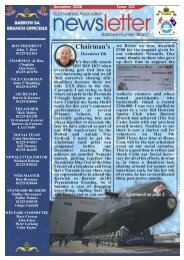 December 08 - Barrow Submariners Association