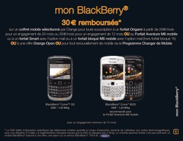 mon BlackBerry® - Orange mobile
