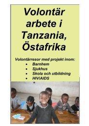 """Volontärresor till Tanzania i Östafrika"""". - Dahl Safaris"""
