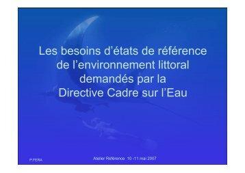 Les besoins d'états de référence de l'environnement ... - Umr-Amure