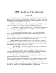 2013 Candidate Questionnaire