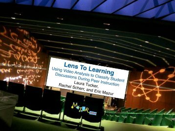 Lens To Learning - Mazur Group