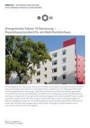Energetische Faktor 10 Sanierung – Passivhausstandard ... - Inoutic