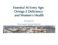 Essential At Every Age: Omega-3 Deficiency and ... - Nordic Naturals