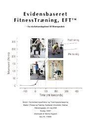 Evidensbaseret FitnessTræning, EFT - Marina Aagaard