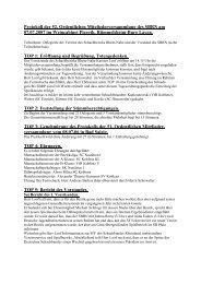 Protokoll der 52. Ordentlichen Mitgliederversammlung des SBRN ...