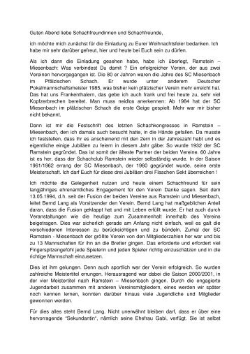 Bernd Lang - Pfälzischer Schachbund