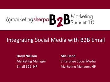 Integrating Social Media with B2B Email - MarketingSherpa