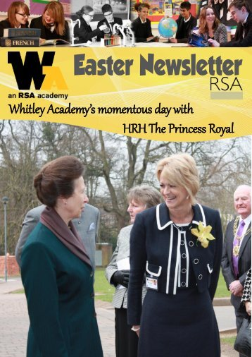 Easter Newsletter 2012 - Whitley Academy