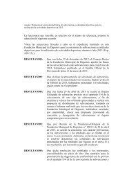 documento - FMD - Fundación Municipal de Deportes Ayuntamiento ...