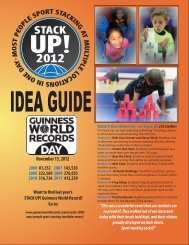 '12 STACK UP! Idea Guide front and back - The WSSA