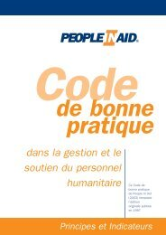 25110 PIA CodeBkFrench - People In Aid