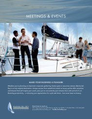 MEETINGS & EVENTS - Marina del Rey