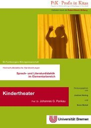 Kindertheater - elementargermanistik.uni-bremen.de - Universität ...