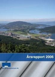 Årsrapport 06 - Sør-Norge Aluminium AS