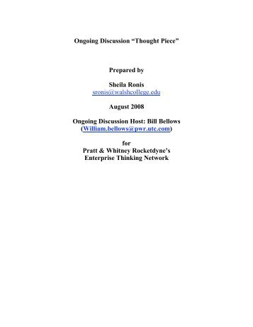 The Project on National Security Reform - In2:InThinking Network