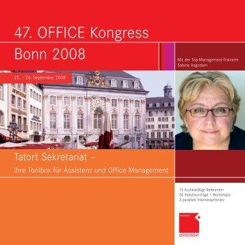 47. OFFICE Kongress Bonn 2008 - OFFICE SEMINARE